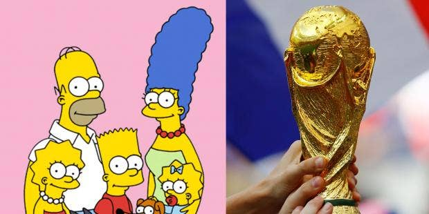 world cup 2018 people think that the simpsons have already