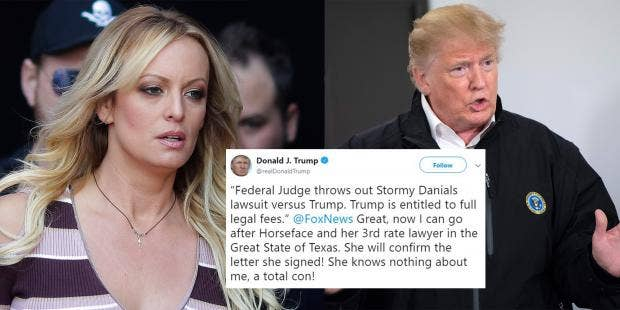 donald trump just called stormy daniels horseface and everyone is