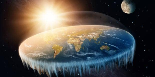 a flat earther has claimed that the earth is shaped like a doughnut