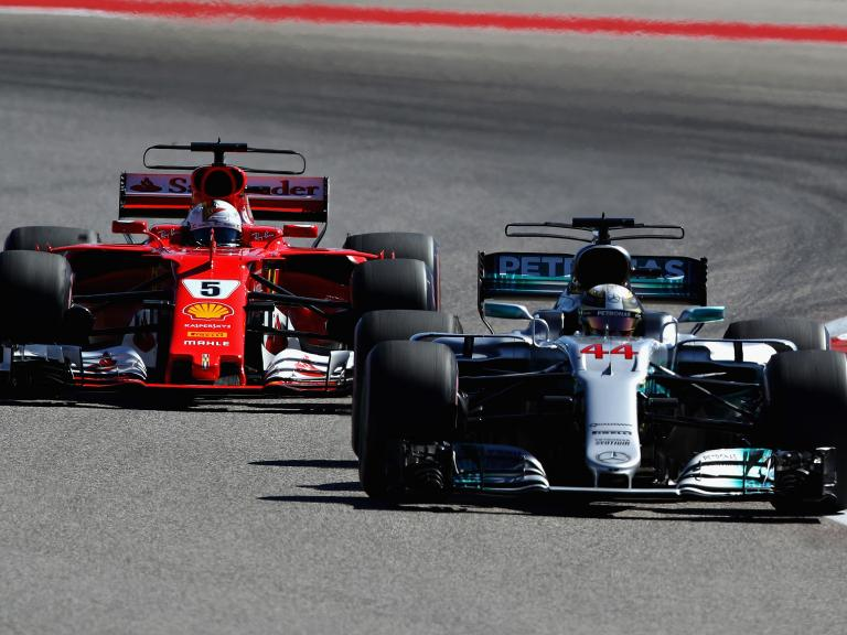 Lewis Hamilton surprised by how little Sebastian Vettel defended against him on way to US Grand Prix victory