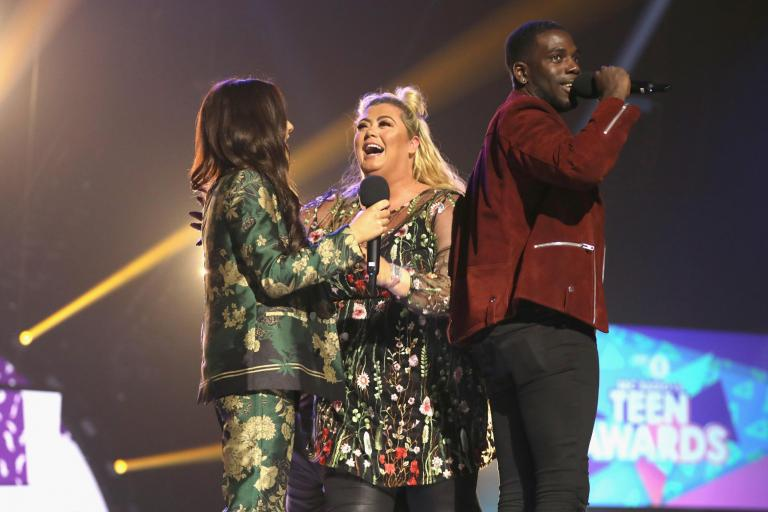 Gemma Collins fell down a trap door at the BBC Radio 1 Teen Awards