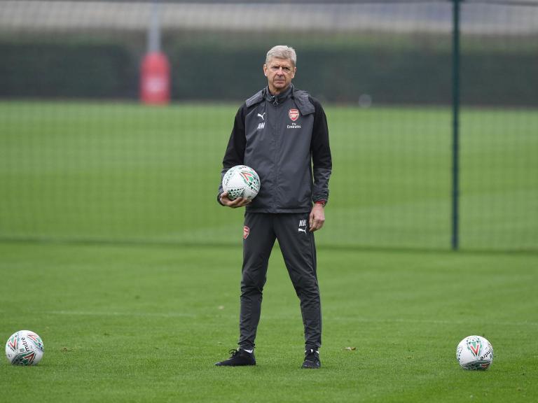 Arsene Wenger believes Arsenal's front line still has room for improvement despite Everton thrashing