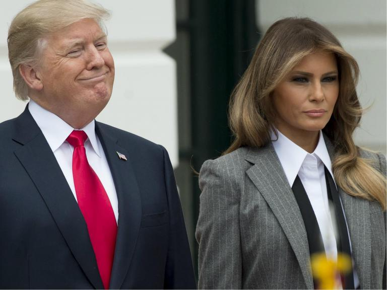 Melania Trump denounces cyberbullying one day after Donald goes after 'wacky' congresswoman on Twitter