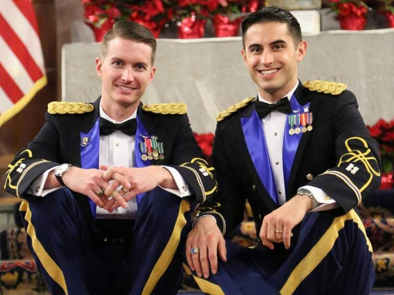 Apache helicopter pilots become first active-duty same-sex couple to marry at West Point