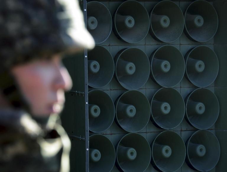 South Korea stops broadcasting propaganda over border with North Korea ahead of summit between leaders