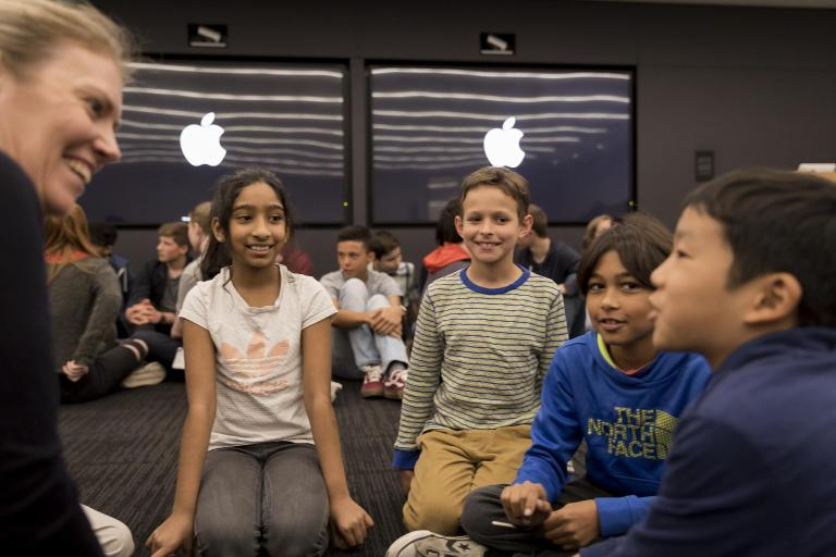 Apple reveals UK engineering team and introduces them to children to inspire them to become engineers