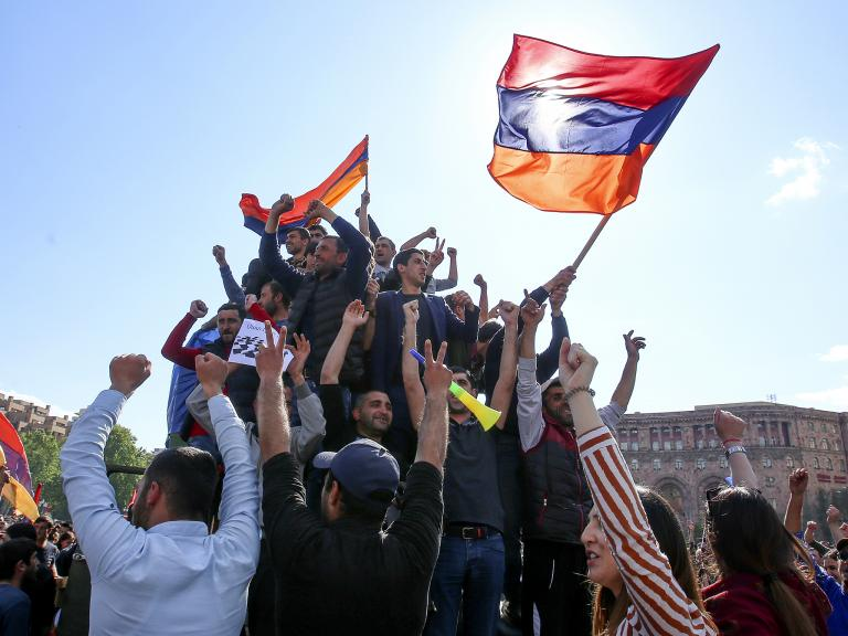 'I got it wrong': Celebrations in Armenia as prime minister resigns after days of protests