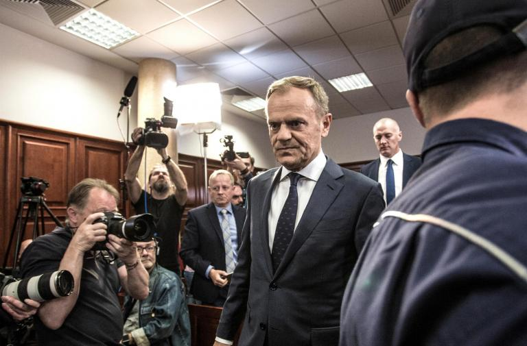 Donald Tusk testifies in court over plane crash that killed Poland's president and 95 others
