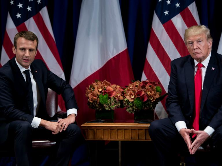 Macron to warn Trump not to leave Iran nuclear deal because there is no 'Plan B'