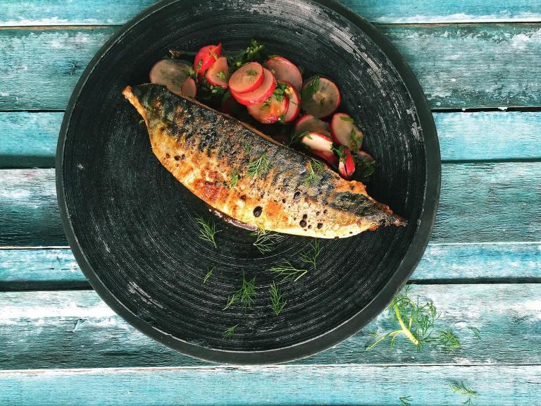How to make Romy Gill's spicy mackerel with radish salad
