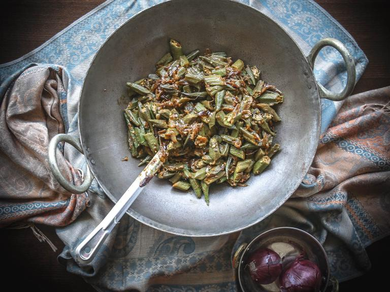How to make Romy Gill's okra sabzi