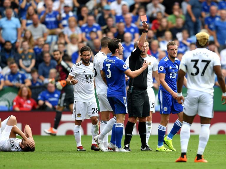 Jamie Vardy red card sours Leicester's celebrations a Claude Puel breathes a sigh of relief to silence his critics