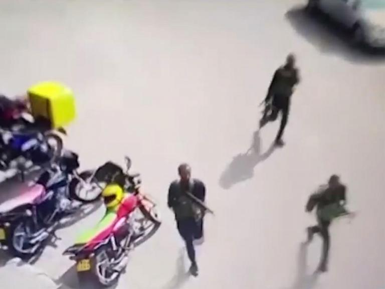 Nairobi attack: New CCTV shows gunmen as they begin deadly hotel siege in Kenyan capital