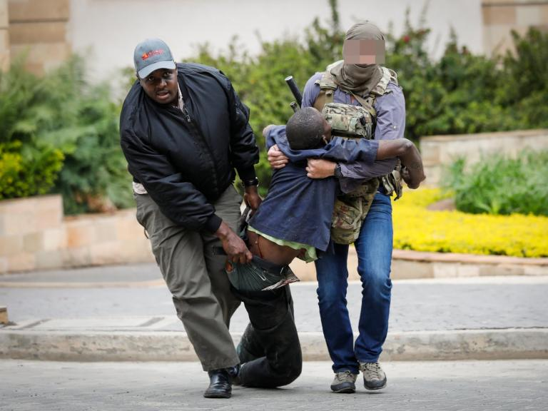 Nairobi attack: Who was the SAS soldier with pirate badge pictured at scene of deadly assault?