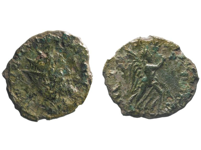 'Incredibly rare' Roman coin found during roadworks
