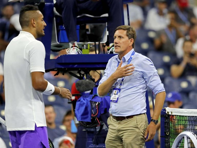 US Open 2019: Nick Kyrgios in the thick of controversy over collar 'misunderstanding' against Antoine Hoang