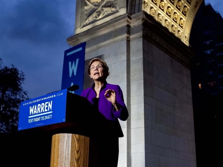 'Donald Trump is corruption in the flesh': Elizabeth Warren unveils sweeping anti-corruption plan in Washington Square Park rally