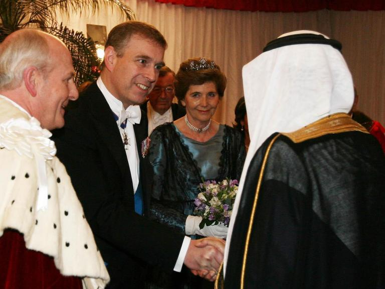 Prince Andrew made racist comments about Arabs at Buckingham Palace dinner, claims former home secre ...