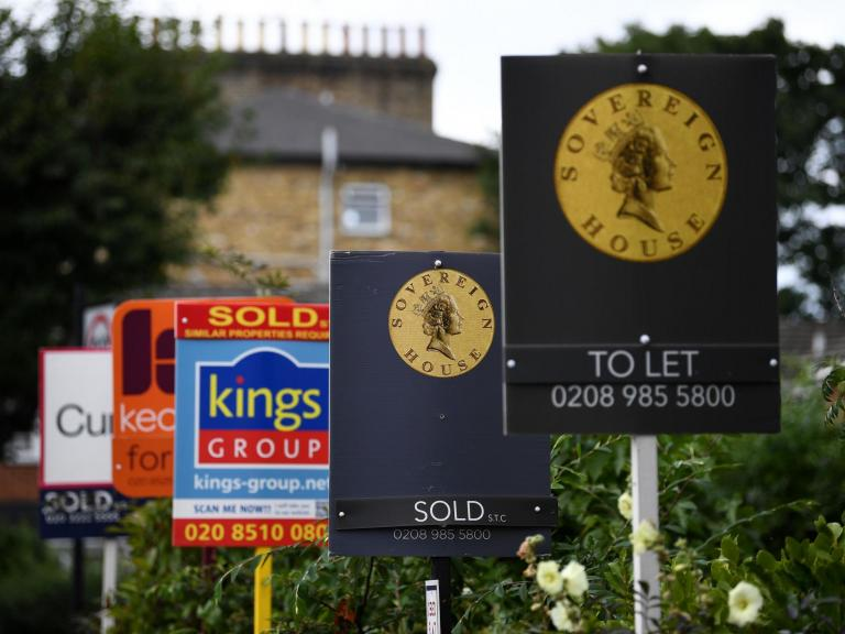 UK house prices in longest decline since 2010 after four consecutive monthly falls