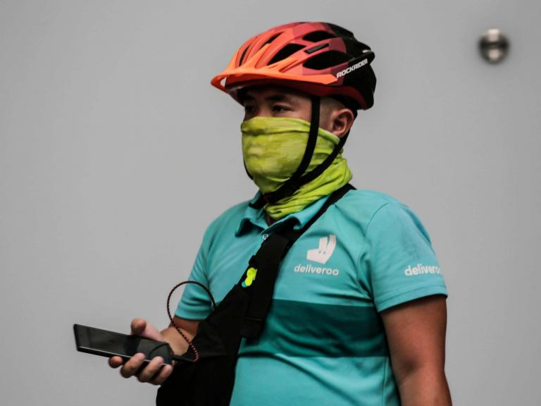 Coronavirus: Deliveroo accused of 'putting people at risk' with opt-in PPE scheme for riders