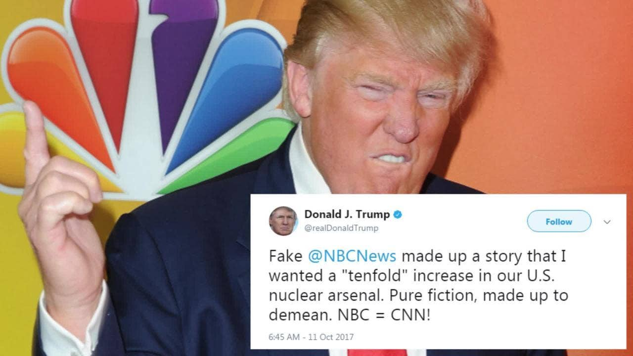 Donald Trump Threatens To Shut Down Nbc And Other Tv News Networks Wiring Jaw That Criticise Him The Independent
