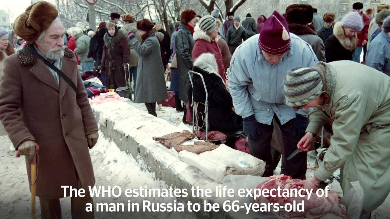 What is the retirement age in Russia, for women