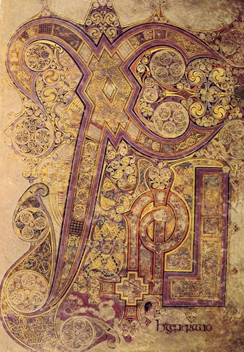 Anonymous The Chi Rho From The Book Of Kells C800 The