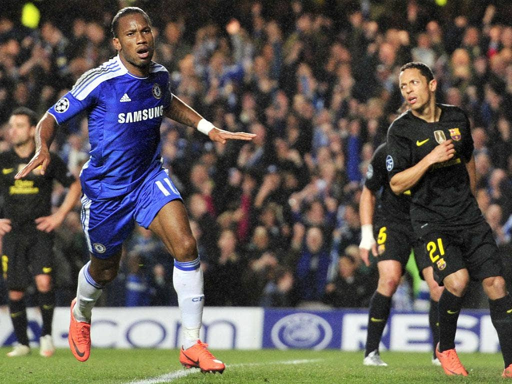 Image result for drogba vs barcelona 2012