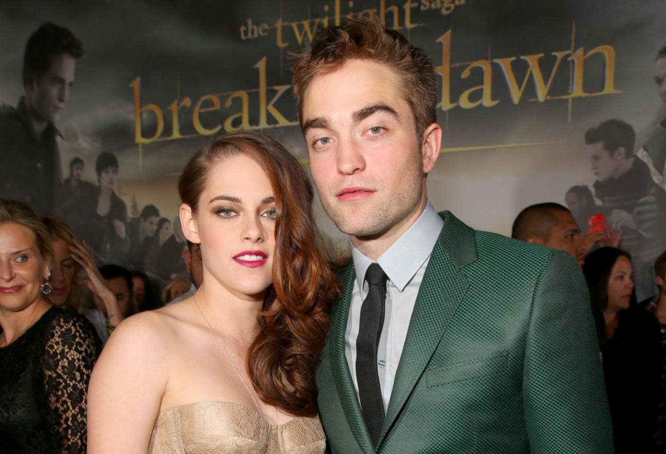 Robert Pattinson with ex-girlfriend Kristen Stewart