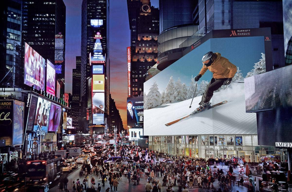 Another view of Times Square digital OOH making waves