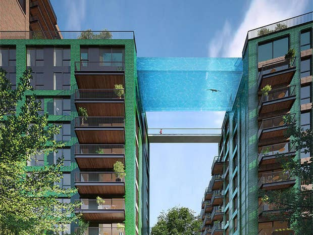 The design for the pool at Embassy Gardens, Nine Elms