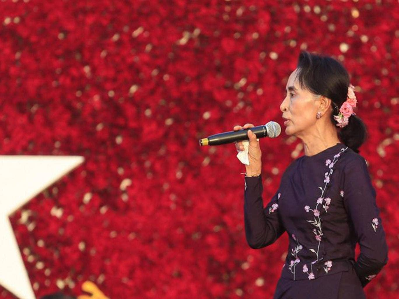 est some photos aung san suu kyi  the national league for democracy nld led by myanmar opposition leader aung san suu kyi is campaigning the slogan time to change ahead of the