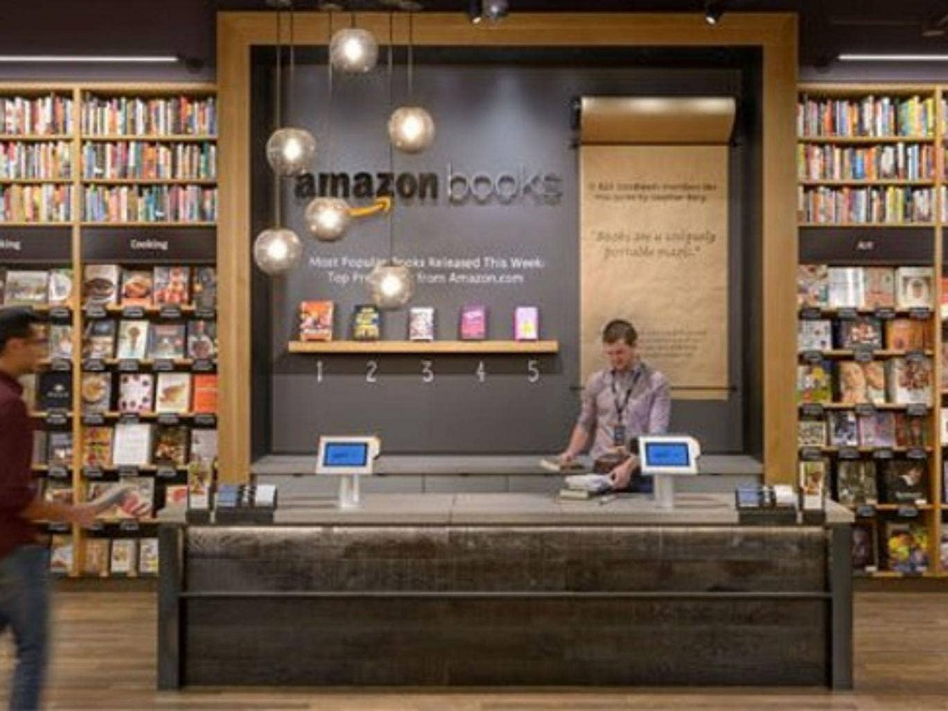 amazon to sell books the old fashioned way with first physical book shop news culture the. Black Bedroom Furniture Sets. Home Design Ideas