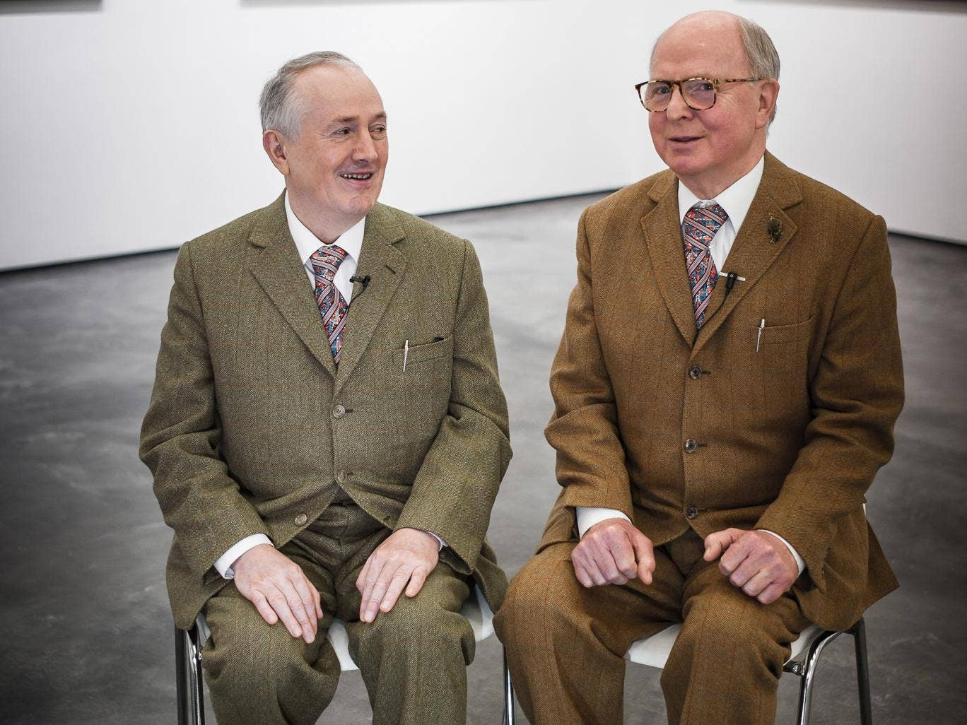Gilbert And George: Gilbert And George: Artists Attempt To Shock With A Set Of