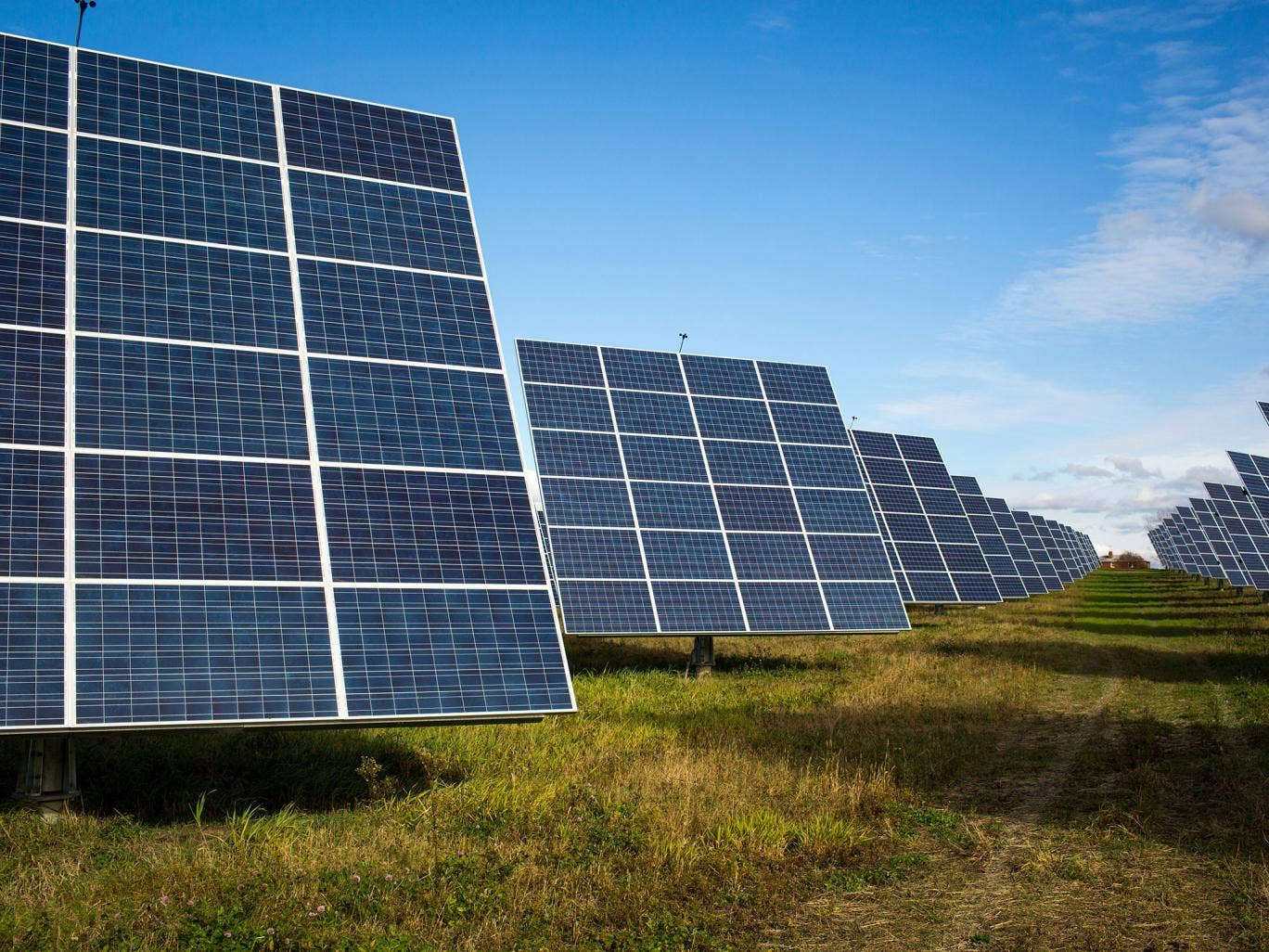 Us Town Solar Panels Suck Up All The Energy From The Sun