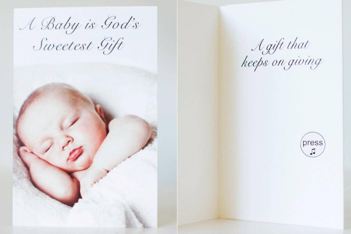 Greetings Card For New Parents Plays Babys Screaming And Doesnt
