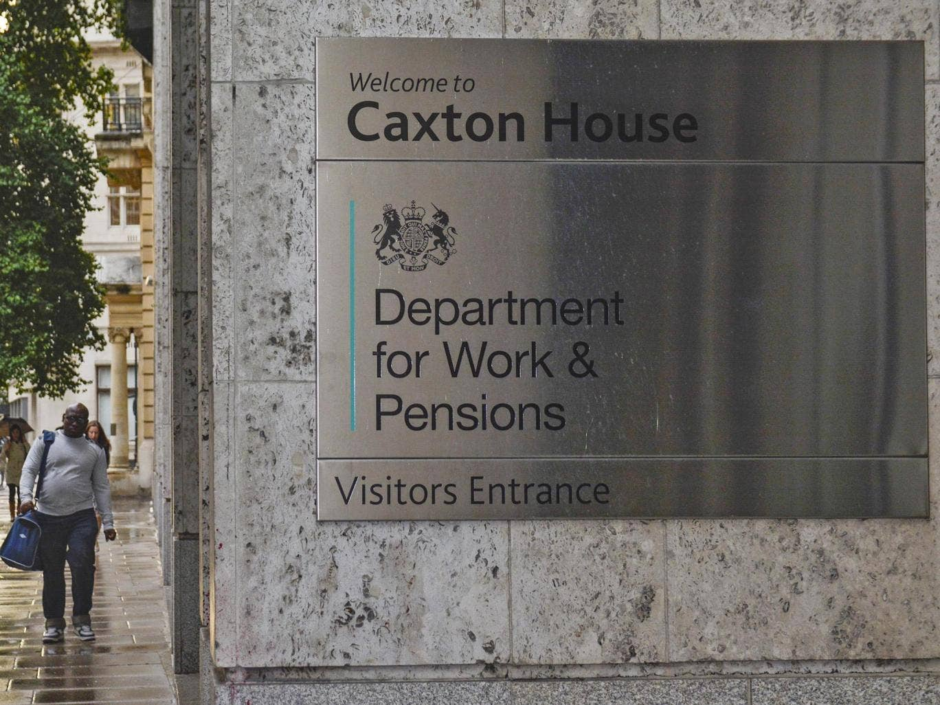 Sign for Caxton House - department of works and pensions