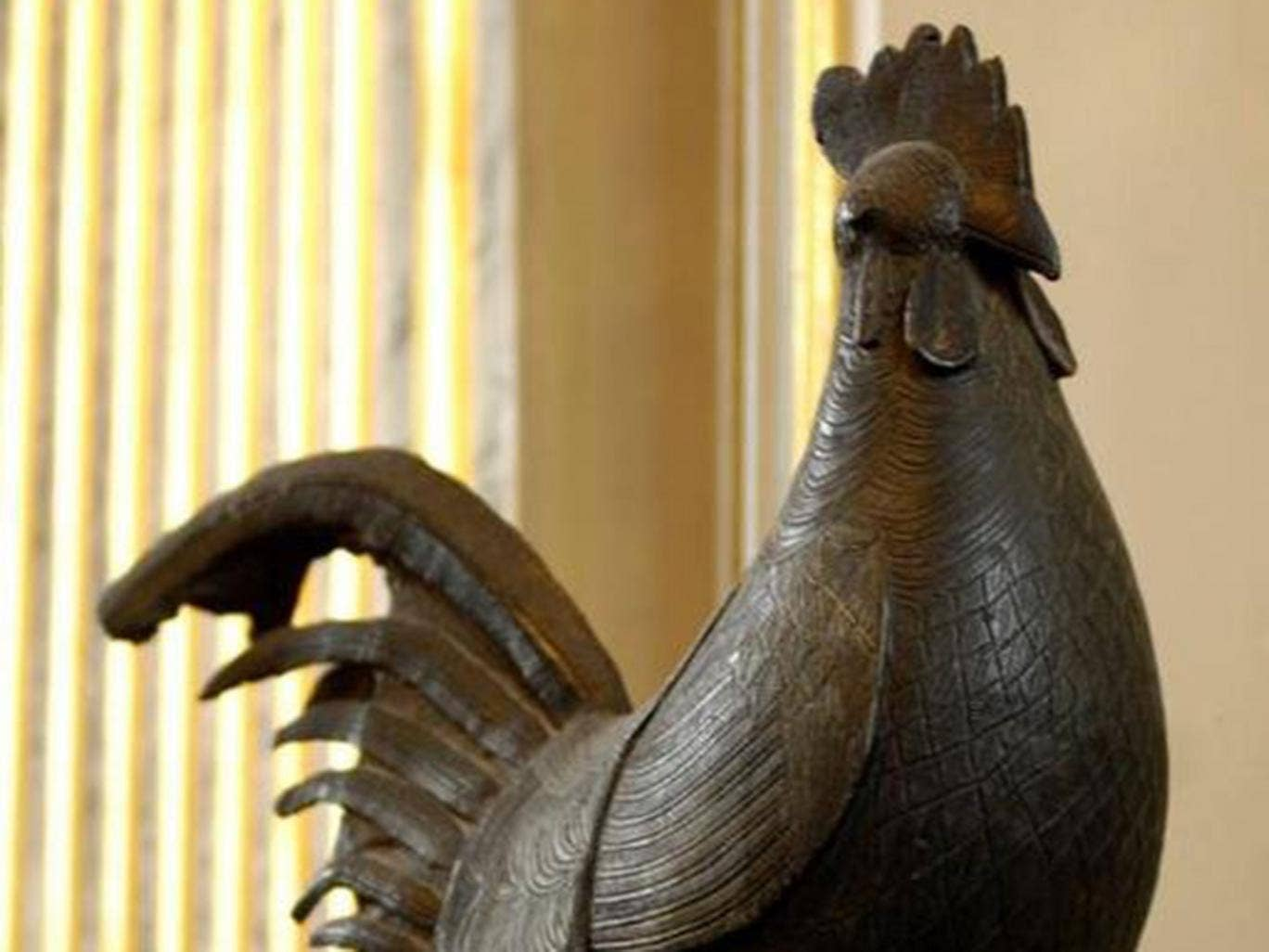 The bronze cockerel was dubbed the 'new Cecil Rhodes' by one student