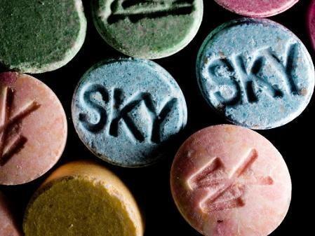 blue moncler drug