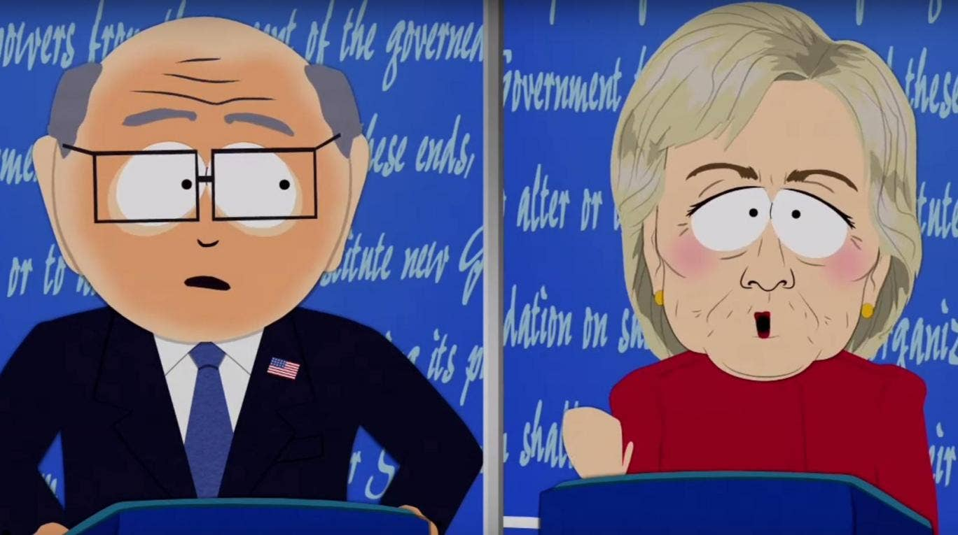 hillary clinton and Donald Trump on South Park