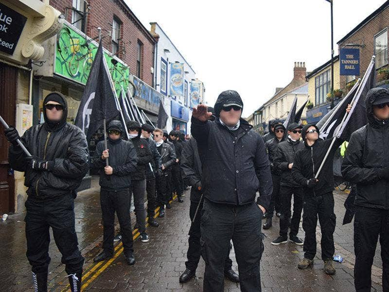British National Action nazi march