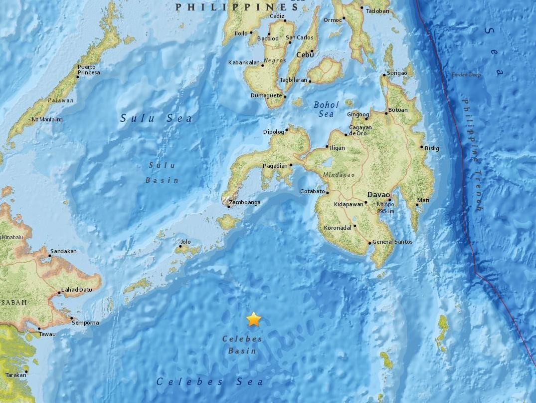 Eartquake epicentre (USGS)