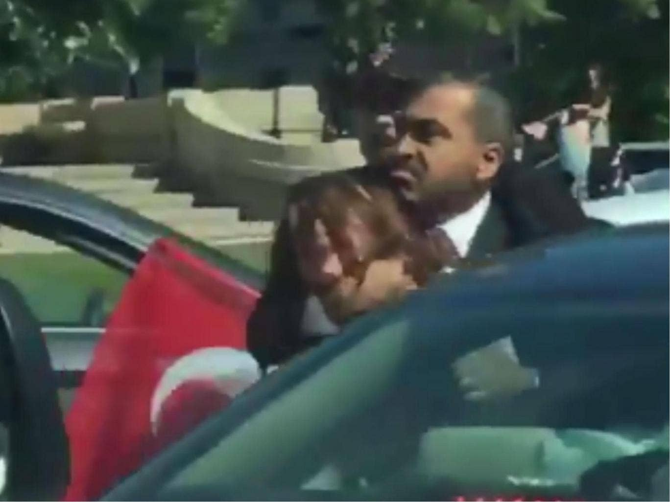Recep Tayyip Erdogan Caught On Video Watching His Guards Beat Up
