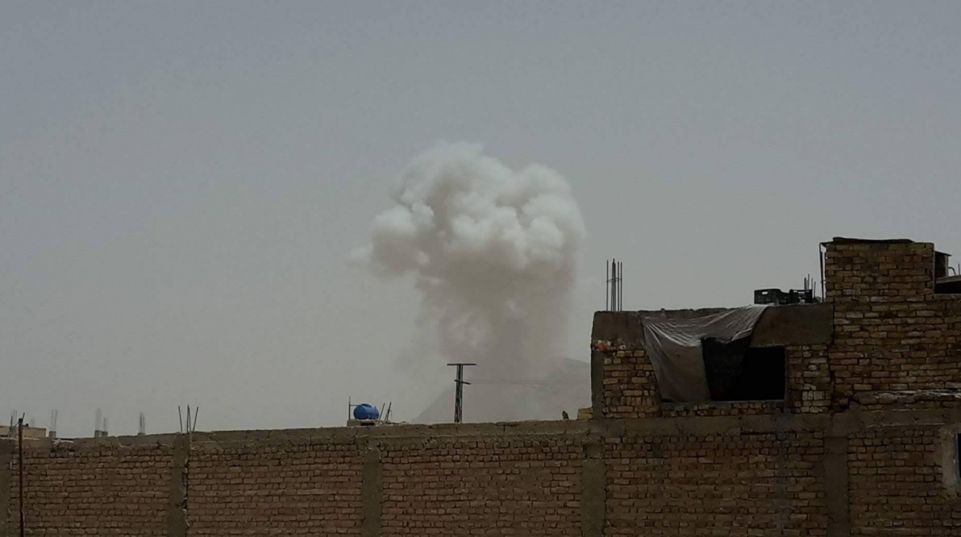 The blast which hit a convoy carrying international troops in Kandahar
