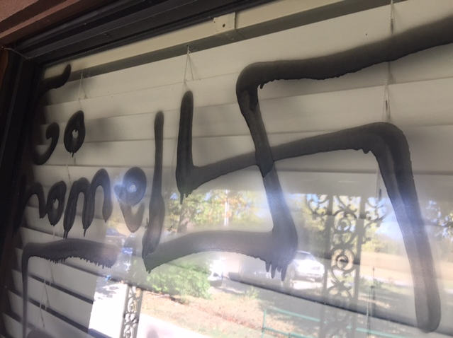 Mosque in Fort Smith, Alabama, USA, vandalized by nazi