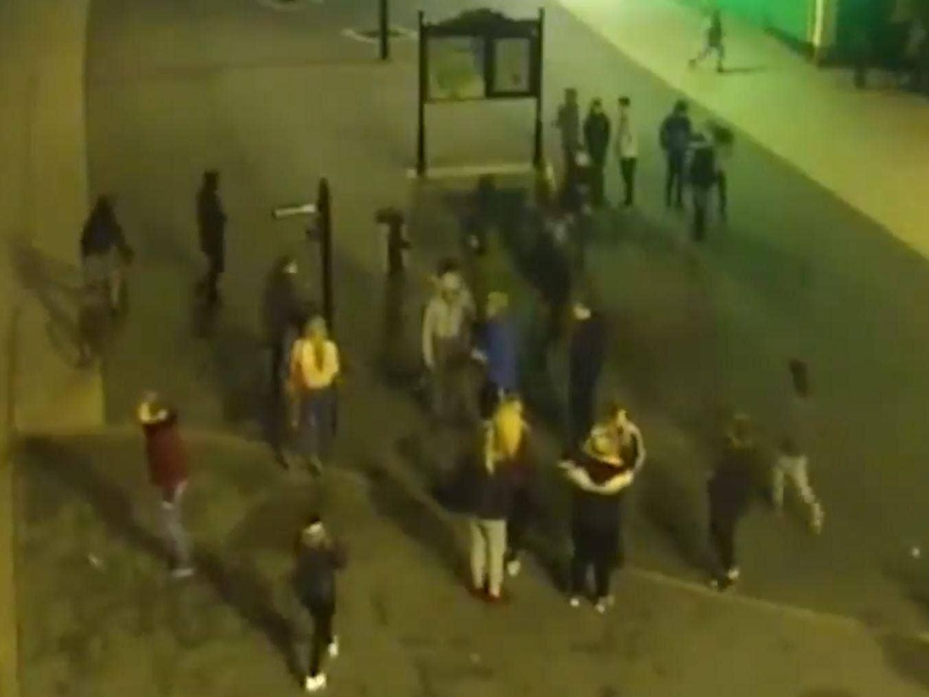 Police Mobbed By 100 Youths Throwing Bricks And Fireworks In Durham