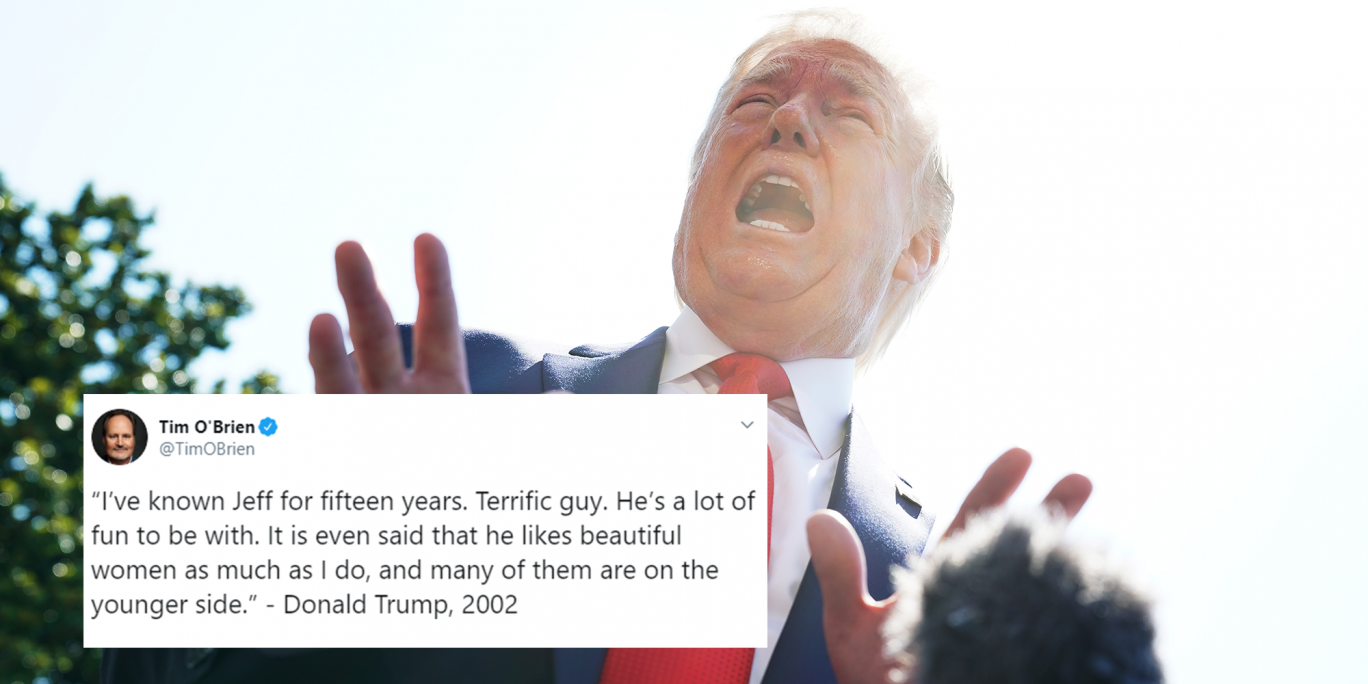 Trump biographer shares embarrassing quote where he says Jeffrey Epstein is a 'terrific guy' who likes women on 'younger' side