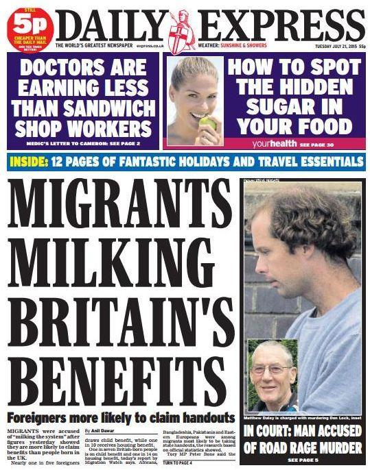 The Daily Express has attacked migrants again, and is ... Daily Express