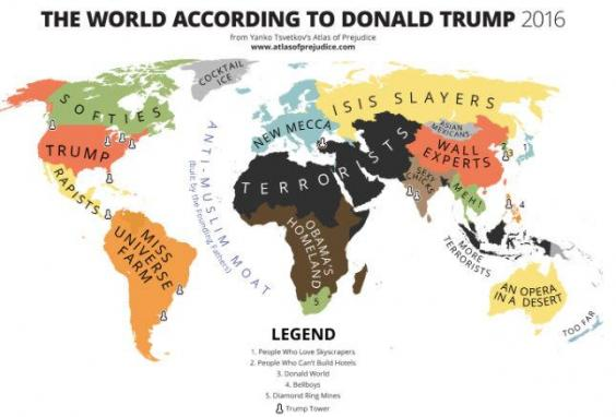Someone made a map of the world according to donald trump indy100 and its a truly beautiful work of art gumiabroncs Images