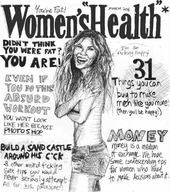 Image result for problem with women's magazine